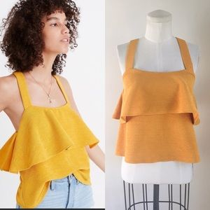 Madewell Knit Mustard Top